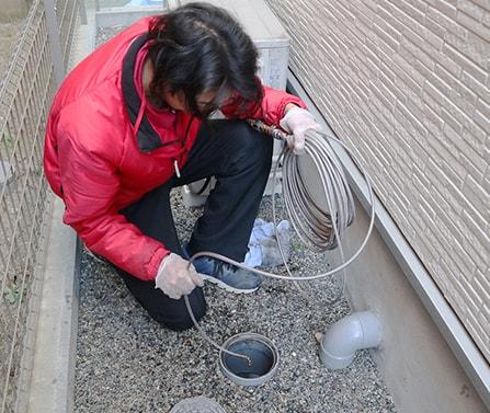 排水管高圧洗浄イメージ